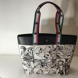 Coach Marvel Jes Tote Comic Book Print